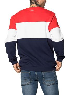 Sweat Fila Colorblock Rouge Homme