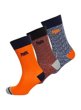 Pack Chaussettes Superdry City Orange Man