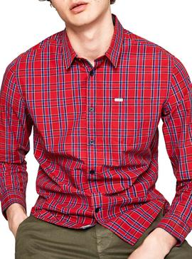 Chemise Pepe Jeans Earnest Rouge Homme