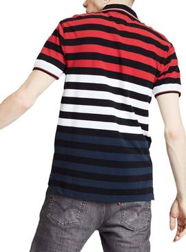 Polo Levis Modern Multi Stripes Homme