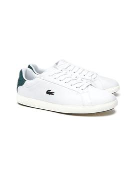 Baskets Lacoste Graduate Leather Blanc Femme
