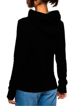 Sweat Superdry Track and Field Noir Femme