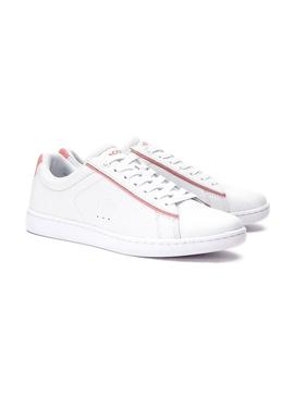 Baskets Lacoste Carnaby Evo Blanc Rose Femme