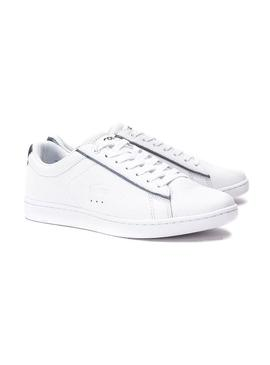 Baskets Lacoste Carvaby Evo Blanc Liste Femme