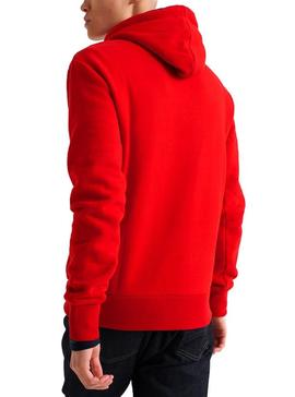 Sweat Superdry Trophy Rouge Homme