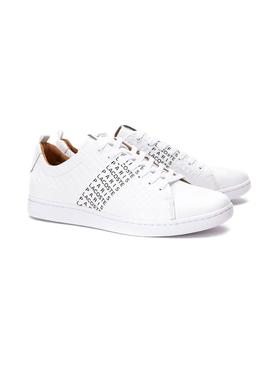 Baskets Logos Lacoste Carnaby Evo Blanc Homme