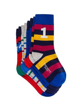 Pack Chaussettes Hackett à Rayures Multicolores