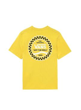 T-Shirt Vans Checkered Side Jaune Enfante