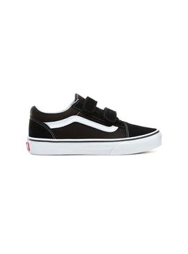 Baskets Vans Old Skool Noir Velcro Fille et Enfant