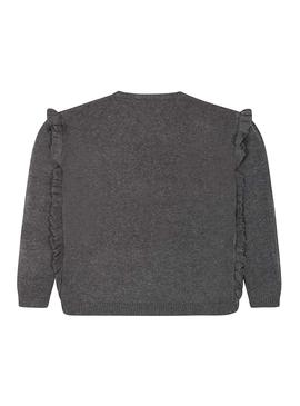 Pull Mayoral Volant Gris Pour Fille