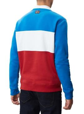 Sweat Napapijri Bogy Crew Multicolore Homme
