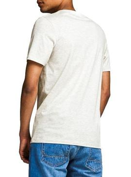 T-Shirt Jack and Jones Logo Blanc Homme