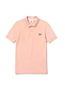 Lacoste Live Polo unisexe Strech rose
