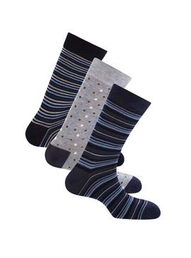 Pack Chaussettes Pepe Jeans Rainer Marine Homme