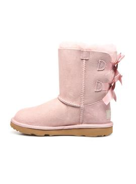 Bootss UGG Bailey Bow II Rose Fille