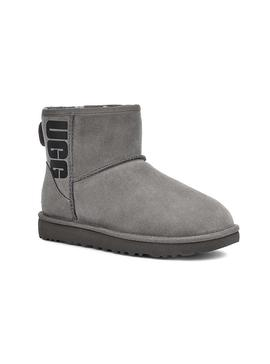 Bootss UGG  Classic Mini Rubber Logo Gris Femme