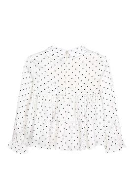 Blouse Mayoral Topos Blanc Pour Fille