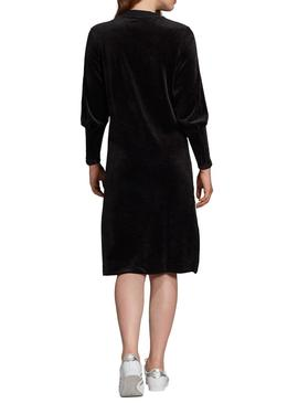 Adidas Black Velvet Dress Pour Femme
