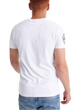 T-Shirt Superdry Trophy Blanc Homme