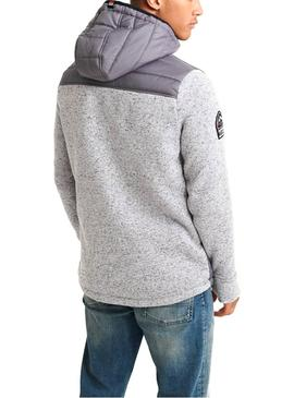 Sweat Superdry Storn hybride Gris Homme
