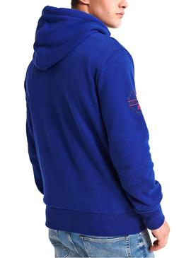 Sweat Superdry Trophy Classic Bleu Homme