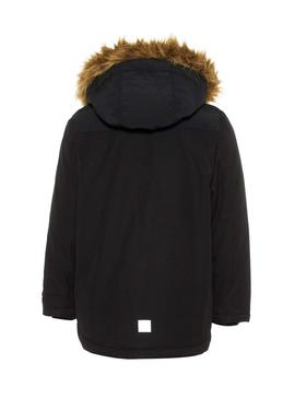 Parka Name It Malien Noir Enfante