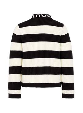 Pull Name It Foase Stripes Noir Fille
