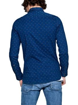Chemise Pepe Jeans Axel Bleu Homme