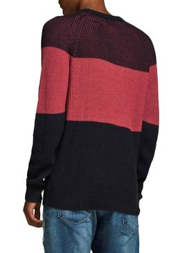 Pull Jack and Jones Frankie Rouge Homme