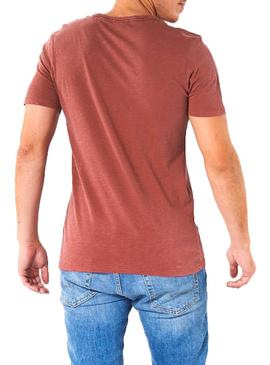 T-Shirt Jack and Jones Kally Rouge Homme