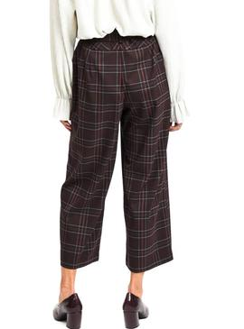 Pantalon Vila Cheek Marron Femme