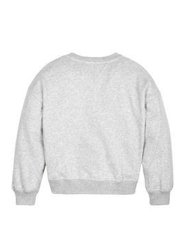 Sweat Tommy Hilfiger USA Gris Fille
