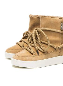 Bootss Pepe Jeans Brixton Warm Camel Femme