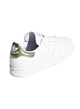Baskets Adidas Stan Smith Blanc Or Femme