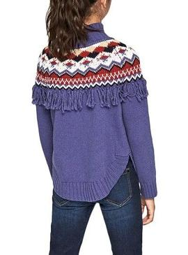 Pull Pepe Jeans Bernice Violet Fille