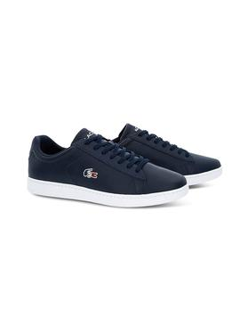Baskets Lacoste Carnaby France Marin Homme