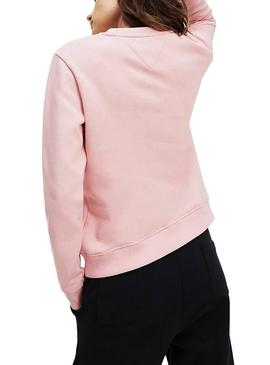 Sweat Tommy Jeans Essential Logo Rose Femme