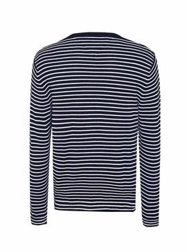 Pull Tommy Jeans Essential Stripe Bleu Homme
