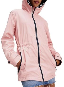 Imperméable Tommy Jeans Tape Detail Rose Femme