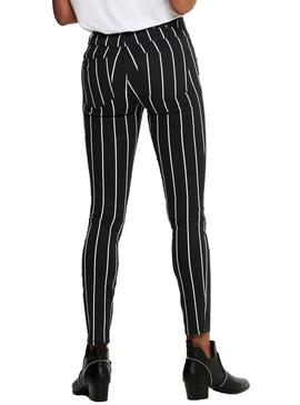 Pantalon Only Nine Ester Lists Noir Pour Femme