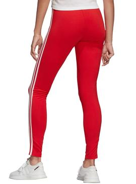 Collants Adidas 3 STR Rouge Pour Femme
