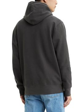 Sweat Levis Pieced Hoodie Gris pour Homme