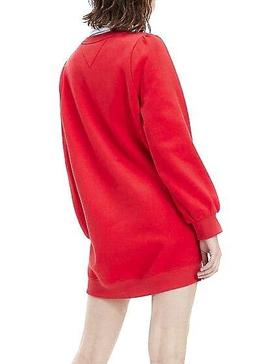 Robe Tommy Jeans Heart Logo Rouge Pour Femme