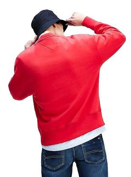 Sweat Tommy Jeans Flag Rouge Pour Homme