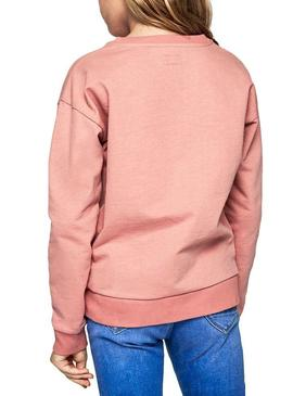 Sweat Pepe Jeans Dale Pink Pour Fille