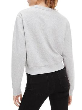 Sweat Tommy Jeans Neon Outline Gris Femme