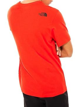 T-Shirt The North Face Fin Rouge Homme