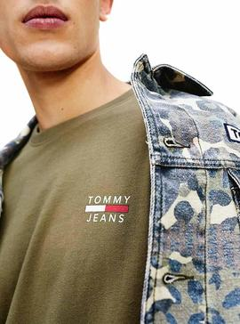 T-Shirt Logo Tommy Jeans Vert Homme