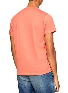 T-Shirt Pepe Jeans Sampson Coral Homme