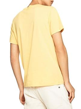 T-Shirt Pepe Jeans Theo Jaune Homme